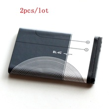 BL-4C Original Mobile Phone Battery For Nokia BL 4C 5100 6100 1202 1265 1325 1506 1508 Replacement Battery(China)