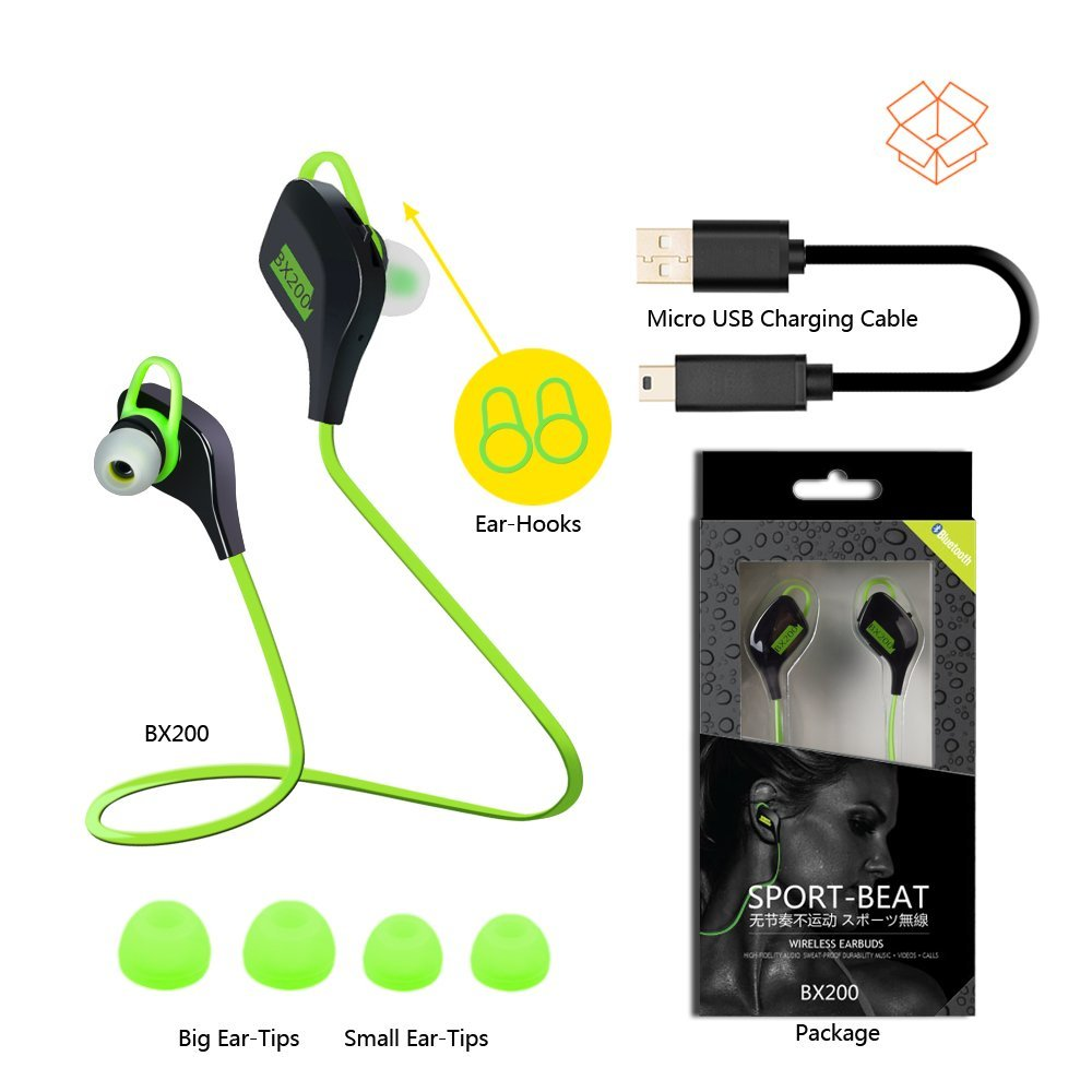 Plextone Running Noise Cancelling Wireless Sport Earbuds Bluetooth 4.1 Sweatproof Gym Exercise Bluetooth Stereo  Earphones <br><br>Aliexpress