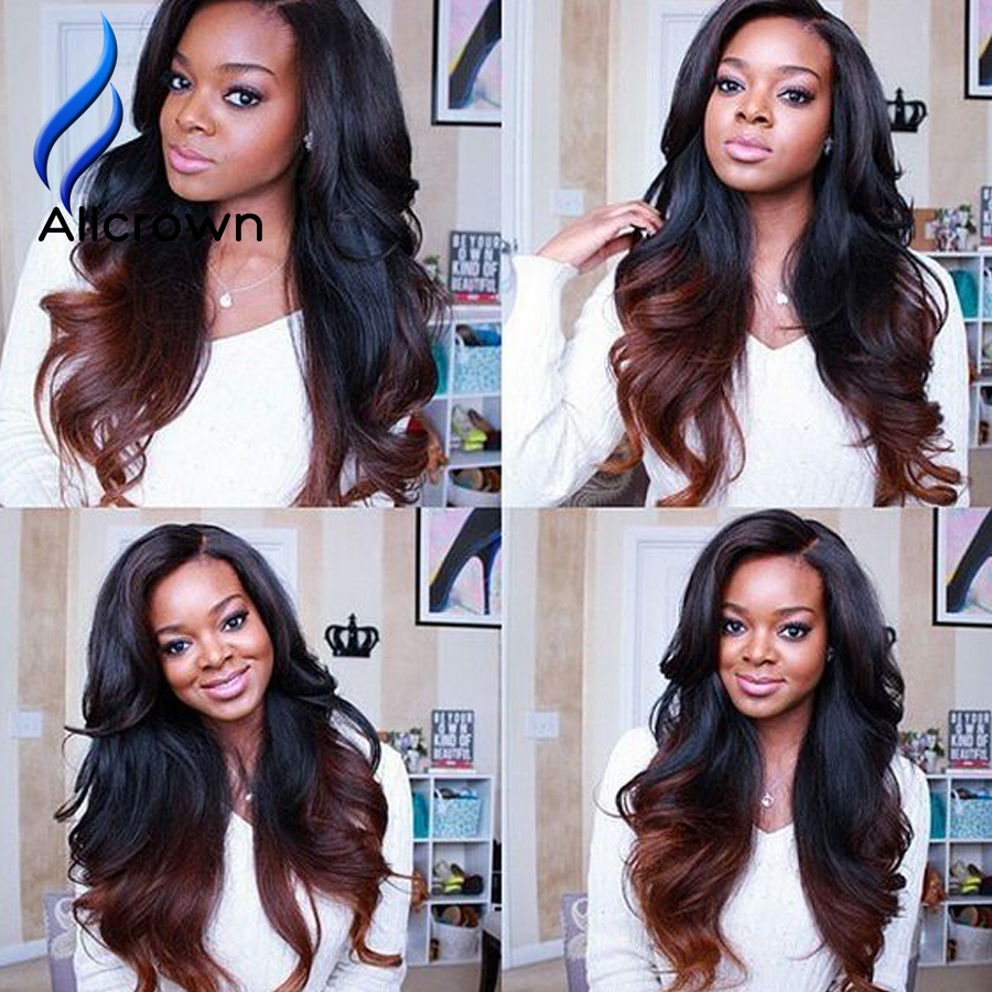Glueless Full Lace Wigs With Baby Hair Brazilian Ombre Human Hair Lace Wig Body Wave Lace Front Wigs Wavy U Part Human Hair Wigs<br><br>Aliexpress