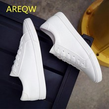 2016 New Spring and Summer With White Shoes Women Flat Leather Canvas Shoes Female White Board Shoes Casual Shoes Female(China)
