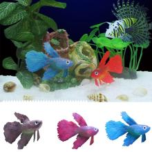 Aquarium Decoration Robo Fish Artificial Clown Fish Goldfish Rumble Tank Fish Ornaments Swimming Boy Bath Toys Pet Product(China)