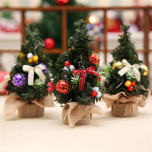 3 pcs/lot Gold Purple Red Mini Artificial Christmas Tree Xmas Home Living Room Bedroom Christmas Decoration Products Supplies(China)