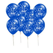 ZLJQ 10pcs Printing Balloons Baby Full Moon One Year Old Birthday Balloon Party Decoration Creative Happy Birthday Supplies 7D(China)
