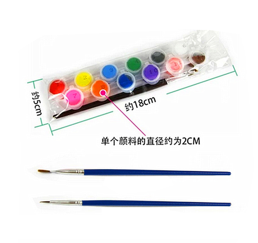 12 colors with 2 paint blue brushes per set acrylic paints for oil painting Nail art clothes art digital wall painting AOA003<br><br>Aliexpress
