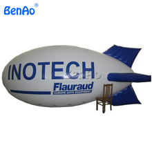 AO122 Free shipping  4m Cheap inflatable advertising balloons / big inflatable air blimp/ air ship/ helium balloon for sale