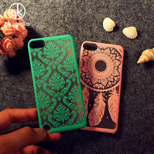 Akabeila Hard Plastic Phone Case For Apple iPod Touch 5 5th 5G touch5 Phone Covers Shell Fundas Retro Hollow Flower Back(China)