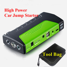 2017 High Quality 12V Portable Mini Car Jump Starter Emergency 400A Jumper Booster Power Top 2USB Power Bank SOS Light Free Ship