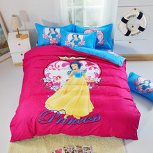 Cartoon Snow White Bedding Set Hello Kitty Bed Set Winnie Pooh Bear Bed Linen Children/kid Duvet Cover Set with Sheet Queen Size