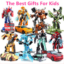 Hot Sale 18.5cm New Arrival Classic Big Transformation Plastic Robot Cars Action Toy & Figures Kids Education Toy Best Gifts Car