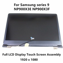 "New Genuine 13.3"" Full LCD Display Touch Panel Screen Assembly For Samsung series 9 NP900X3E NP900X3F WUXGA FHD Blue 1920 x 1080"
