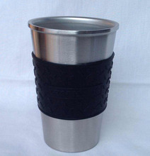 Hot American pint cup New insulation coffee Cup 304 18/8 stainless steel auto cup 14oz travel mug juice cup milk tea mug