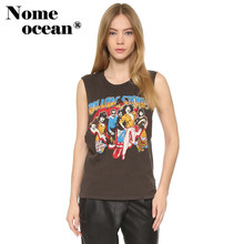 Popular Musical Band Print Character Tank Tops 2017 Summer Muscle Tank Sleeveless Tops of Women Casual Women Vest M17042017