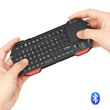 Universal Portable Lightweight Rechargeable Mini Wireless Bluetooth Touchpad Keyboard With Backit For iOS Windows Android Device