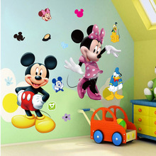 Mickey Mouse Minnie Vinyl Mural Wall Sticker Decals Kids Nursery Room Decor(China)