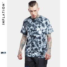 INFLATION 2017 Latest t shirts Men Hip Hop Graphi Printing Tie Dye Shirts For Sale Round Short Sleeve Streetwear t shirts(China)