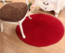 New Silk round fitness yoga basket computer chair cushion cute bedside carpet(China)