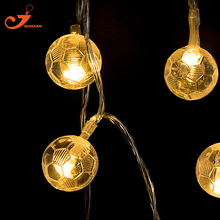 Football 10 LED String Lights Soccer Fairy Festival lighting Sport Decoration Holiday Light AA Battery Operated Room decorative(China)