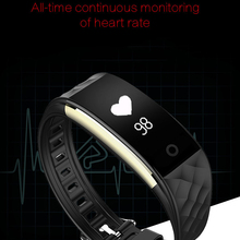 2017 free shipping Real-time Dynamic Heart Rate Monitor Smart Band with Built-in Vibration Motor Bluetooth Smart Bracelet