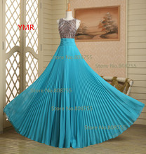2016 Real Photo Fast Delivery Sexy Chiffon Beading Draped Long Prom Dresses/Evening Dresses In Stock Us Size 2 4 6 8  GK006