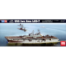 Hobbyboss Trumpeter  1/700 scale ship 83408 USS IWO JIMA LHD-7 battleship assembly model kits Modle building scale battleship