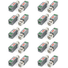 10Pairs CCTV Camera Cat5 UTP Passive BNC Video Balun Transceiver Receiver
