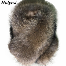 Large Real Raccoon Fur Collar Winter Scarf Women 2017 Luxury Famous Brand Holyesi Scarve Jacket Fur Parka Female Scarf Coat D911