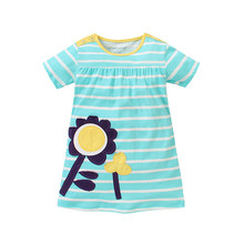 Europe and The United States Children Clothing Summer New Girl Clothes Small And Medium - Sized Children Cotton Dress