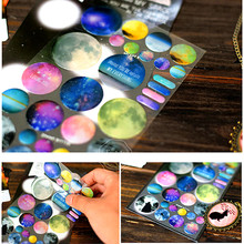 1 Sheets WORLD STAR CRYSTAL WITH EPOXY STICKER Scrapbooking 3D Stickers the World Decorative LABEL Sticker Diary DIY Decors(China)