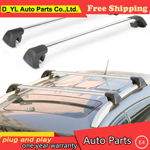 D_YL car styling For Kia Sportage R panoramic sunroof version aluminum roof rack crossbars wing rod mute