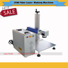 20W Portable Fiber Laser Marking Machine Work Size 200*180mm with Rotary    Used Metal Marking Laser Engraving Machine