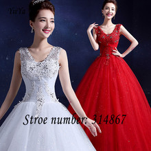 Free Shipping High Quality New Red White Vestidos De Novia Princess Bride Wedding frocks Design Wedding gowns Wedding dress Y09