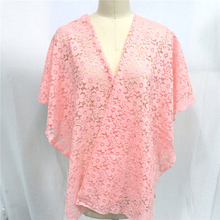 Scarf Pashmina Women Shawl Wrap Beach Cover Up Pink Yellow Floral Lace Sjaals Zomer Hollow Flower Summer Sunscreen Kimono Female