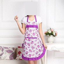 1PC Cartoon Rose Aprons Lovely Women Aprons for Cleaning Cotton Elegant Anti-grease Free Shipping