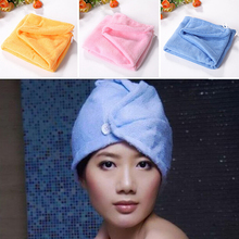Strong Water Absorption Microfiber Dry Hair Towel Wrap Multi Color Dry Hair Hat Bathing Cap A2