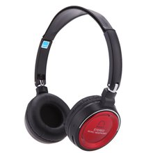 Wireless 3 in 1 Multifunctional Stereo Bluetooth Headphone Earphone Headset with Mic MP3 Player FM Radio for Tablet PC Red+Black(China)