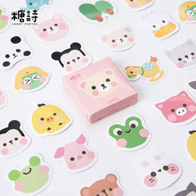 "45pcs/box ""Shy face"" Kawaii stickers DIY album adhesive paper Scrapbook Notebook decoration sticker stationery kids gifts"