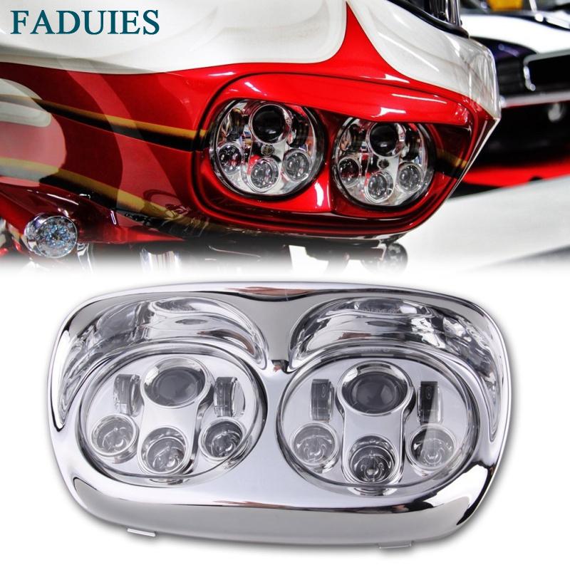 FADUIES 5.75 inch dual LED headlamps Harley Motorcycle 5 34 90W Led Motorcycle headlight For harley-davidson Road Glide dual (10)