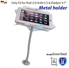tablet PC 360 wall mount desktop counter brace specialized frame box housing lock holder stand for iPad 2 3 4 air(China)