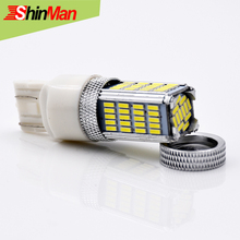 ShinMan Super Bright 92led 2835 Chip7443 (Dual Circuit) 7444 W21 5W CAR LED Brake Lights parking Trunk Light Lamp Bulb(China)