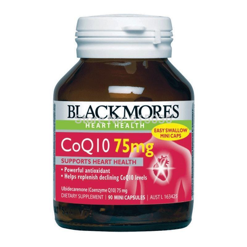 Blackmores CoQ10 75mg High Potency 90 Capsules, Maintaining Healthy Arteries and Heart Muscle Function made in Australia<br><br>Aliexpress
