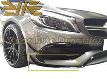 2016-2017 W176 A Class A45 A250 A220 A180 A160 ABS AMG Front Bumper Canards Front Side Bumper Spoiler Edition 1(China)
