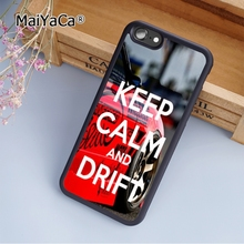 Hot MaiYaCa KEEP CALM AND DRIFT ON fashion soft mobile cell Phone Case Cover For iPhone 5 5S SE Custom DIY cases luxury shell(China)
