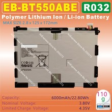 4pcs [EB-BT550ABE] 3.8V 6000mAh Li - Polymer lithium ion TABLET PC battery for SAMSUNG Galaxy TAB SM-T550/P550 SM-T555C P555C