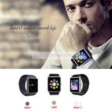 GT08 Bluetooth Smart Watch Clock Sync Notifier Wearable Support SIM Card Watch Phone for Iphone Samsung Huawei Android & IOS(China)