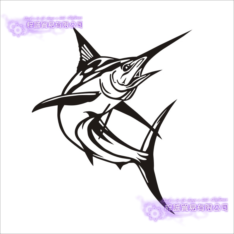 Fishing Sticker Car Sailfish Fish Decal Angling Hooks Tackle Shop Posters Vinyl Wall Decals Hunter Decor Mural Sticker