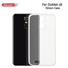 Alesser For Oukitel C8 C8 4G Silicone Case Soft Transparent Protective Back Cover Anti-knock Shell For Oukitel c8 5.5 Inch Case(China)