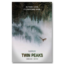 X090 New 2017 Showtime Twin Peaks Hot USA TV Series Season A4 Art Print Poster Silk Light Canvas Painting Home Decor Wall Pictur
