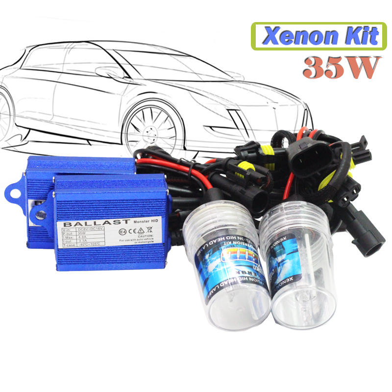 35W 9006 HB4 Hid Xenon Kit  3000K-15000K (1 Pair Bulb + 1 Pair Ballast) Car Replacement Headlight Fog Lamp Daytime Running Light<br><br>Aliexpress