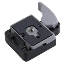 Camera 323 Quick Release Clamp Adapter + Quick Release Plate Compatible for Manfrotto 200PL-14 Compat Plate Photo Accessories