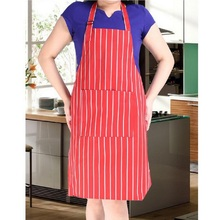 Fashion Stripe Bib Apron with 1 Pockets Chef Waiter Kitchen Cook New Tool Kitchen Apron for Women and Men
